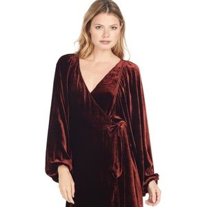 A.L.C. Carlo Velvet Wrap Dress Size 8